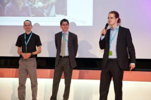 Thomas Gross, Andrei Popovici and Gustavo Alonso, the group that won the best paper award