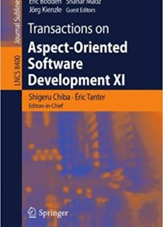 Transactions on Aspect-Oriented Software Development XI co-authored by Éric Tanter.